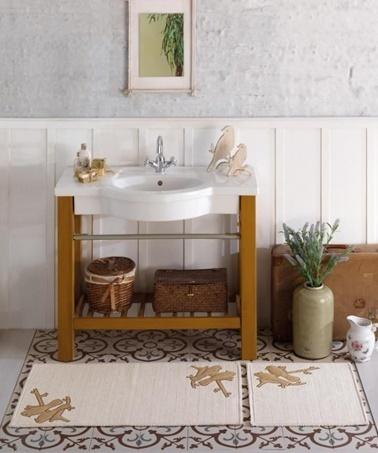 Soley Naturel İkili Banyo Paspası - Serçe Renkli